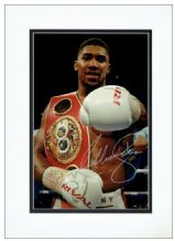Anthony Joshua Autograph Signed Photo